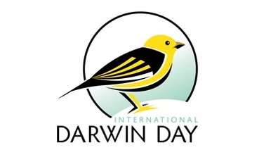 Logo for International Darwin Day sponsored by the American Humanist Association.