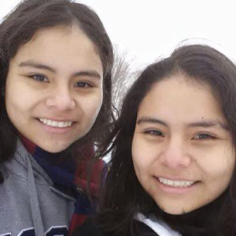 Kiara, left, and Katia Ruesta.