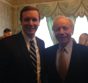 Sen. Chris Murphy and his successor in the U.S. Senate, Joe Lieberman, in Tunisia.
