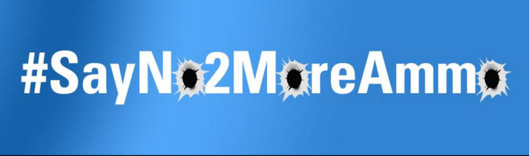 The logo for the #SayNo2MoreAmmo campaign.