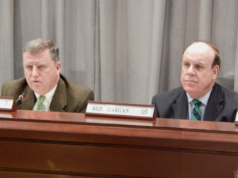State Reps. Tim Larson, D-East Hartford, and Stephen Dargan, D-West Haven, of the Public Safety and Security Committee.