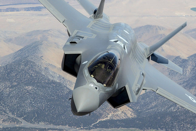 The F-35A stealth fighter, the Air Force version of the plane.