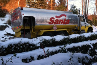 A winter heating oil delivery.