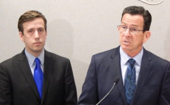 Rep. Matthew Lesser and Gov. Dannel P. Malloy