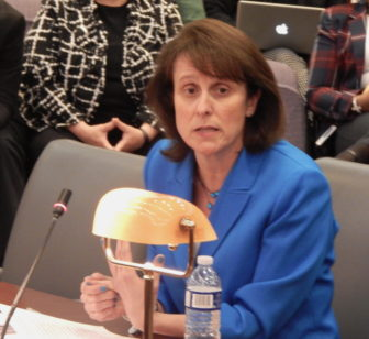 Anne Noble, President and CEO of the CT Lottery Corporation testifies Wednesday.