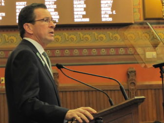 Gov. Dannel P. Malloy, delivering last year's State of the State.