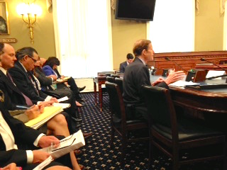 U.S. Sen. Richard Blumenthal testifies before the Indian affairs subcommittee Wednesday.