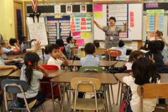 A classroom at DiLoreto Magnet Elementary School in New Britain
