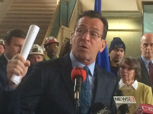 Malloy uses 'F word' (not that one) at transportation rally