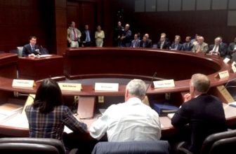 Gov. Malloy makes brief remarks at the first meeting of the Governor's Transportation Finance Panel.