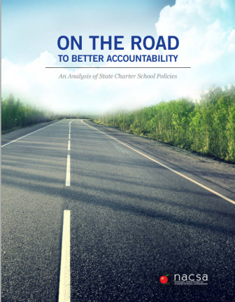 Cover of NACSA report on state charter school policies. Click to view report.
