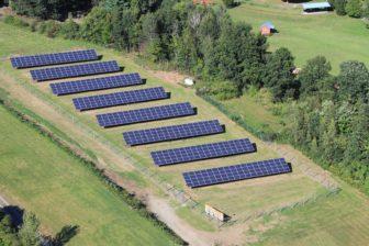 A shared solar installation in Putney, VT.