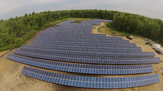 A shared solar field in Rehoboth, Mass. Investment in the concept is heavy in that state.