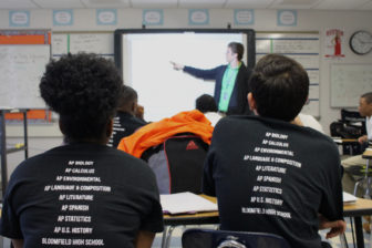 Ross Hanson teaches his Advanced Placement Calculus class at Bloomfield High School.