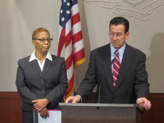 Gov. Dannel P. Malloy introducing Sybil Richards, his first choice for the Superior Court in October 2011.