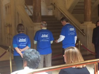 Tribal casino employees visited the Capitol on Tuesday to promote casino expansion.