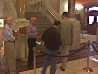 The governor's staff leaving budget negotiations at midnight Saturday.