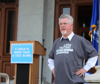 Former House Speaker Chris Donovan at the rally