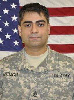 Staff Sergeant Kashif Memon, 31, killed in Afghanistan.