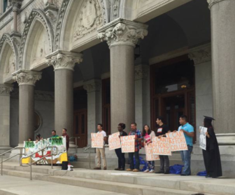 Undocumented students rally at the state Capitol on Saturday