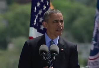 President Obama at the Coast Guard Academy