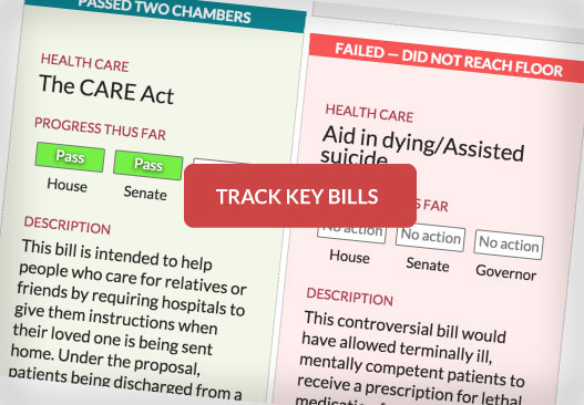 Bill checklist: Track what happened to key legislation