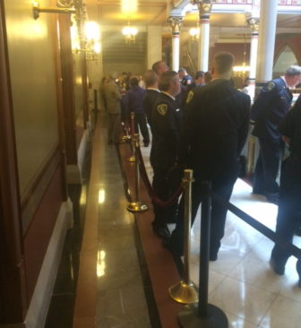 Firefighters seeking a workers' compensation bill leave a narrow path for legislators to move from caucus room to House chamber.