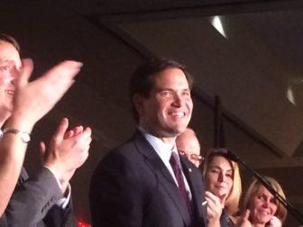 U.S. Sen. Marco Rubio is introduced at the Prescott Bush dinner.