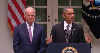 President Obama addressing the nation following Thursday's U.S. Supreme Court ruling.