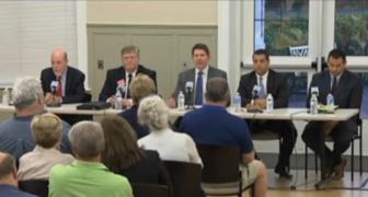 From left, Joe Markley, Ronald Eleveld, moderator John Tansky, John Pavia and J.R. Romano.