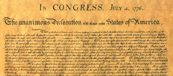 Origins of our independence similar to today's conditions