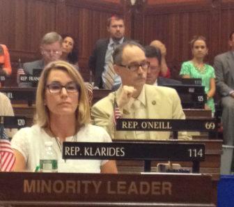 House Minority Leader Themis Klarides at Monday's veto session