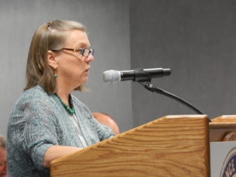 Lynne Ide of the Universal Health Care Foundation of Connecticut testifies on the ConnectiCare proposal.