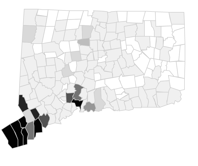 How much did CT residents give to each presidential candidate?