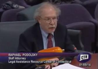 Raphael L. Podolsky testifying at the legislature.