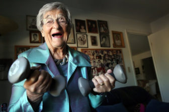 Belle Likover, a 95-year-old retired social worker, told Case Western Reserve medical students that growing old gracefully is all about being able to adapt to one's changing life situation, including health challenges.