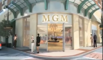 A rendering the entrance to MGM Springfield.