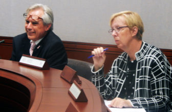 State Rep. Peter Tercyak and State Sen. Cathy Osten.