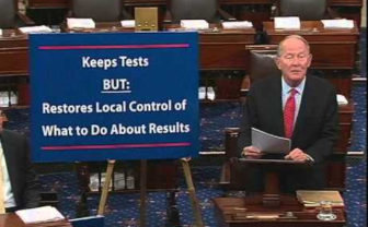 Sen. Lamar Alexander, R-Tenn., on the Senate floor during the debate on the Every Child Achieves bill.