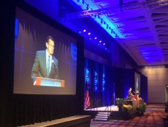 Gov. Dannel P. Malloy addressing the Connecticut Conference of Municipalities.