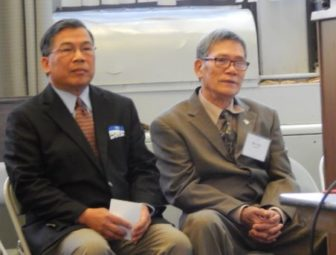 Howard Phengsomphone, executive director of the Lao Association of Connecticut, and Ban Tran.