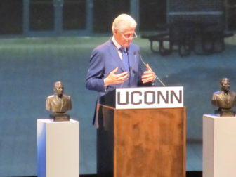Bill Clinton at UConn.