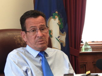 Gov. Dannel P. Malloy in his office after the legislative session ended in June.