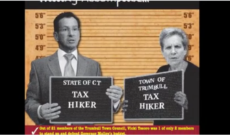Malloy is featured in a campaign video for Republican Tim Herbst in Trumbull.
