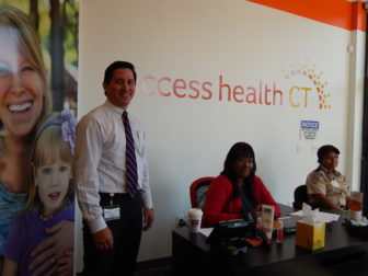 This is a picture of Staff at the Access Health CT enrollment center in New Britain
