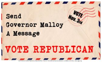 One of the postcards the state GOP is sending out.