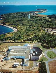 An aerial view of Plum Island