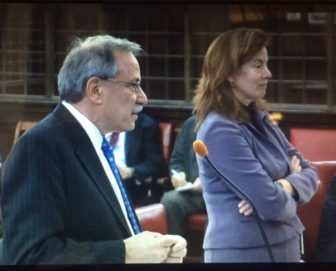David S. Golub and Maura Murphy Osborne at a previous hearing.