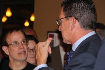 Gov. Dan Malloy and Dan Livingston at an event in Hartford last year.