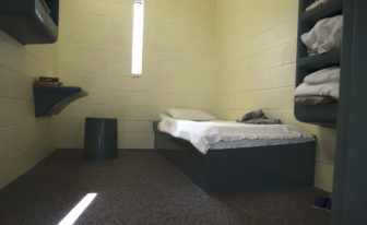 A bedroom in the intake area of the state-run jail for boys in Middletown